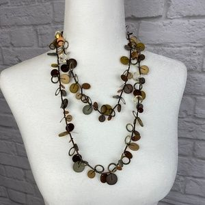 """Brown Necklace 46"""""""